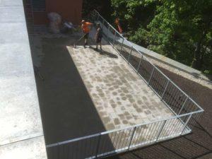 Flachdachabdichtung mit Dachbegrünung und Terrassenbelag