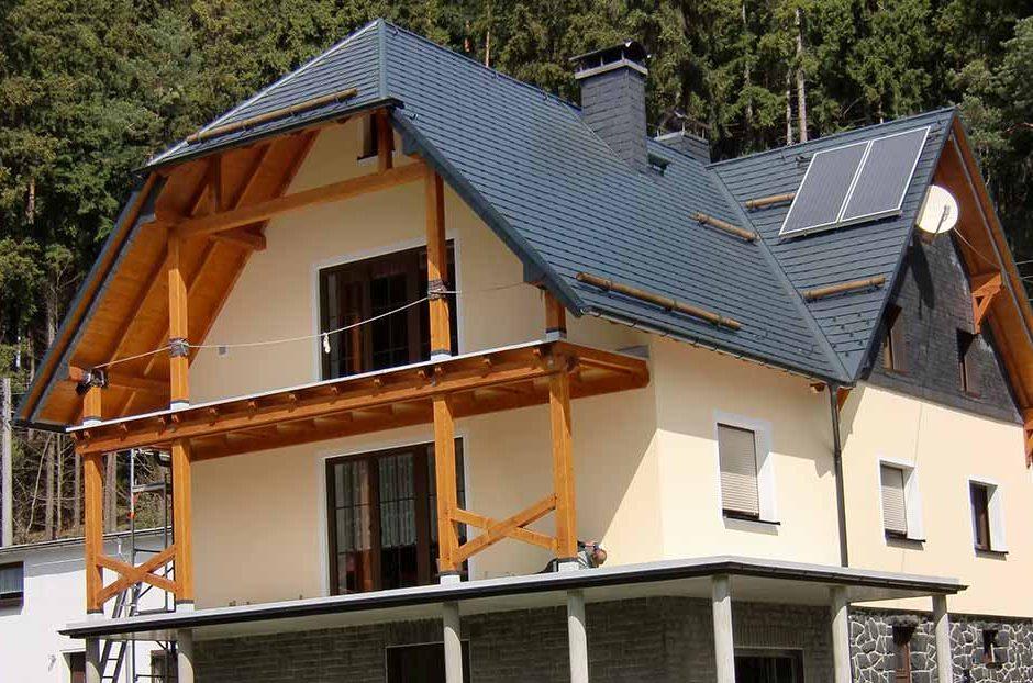 Prefa Dachschindeln und Ausparremdämmung